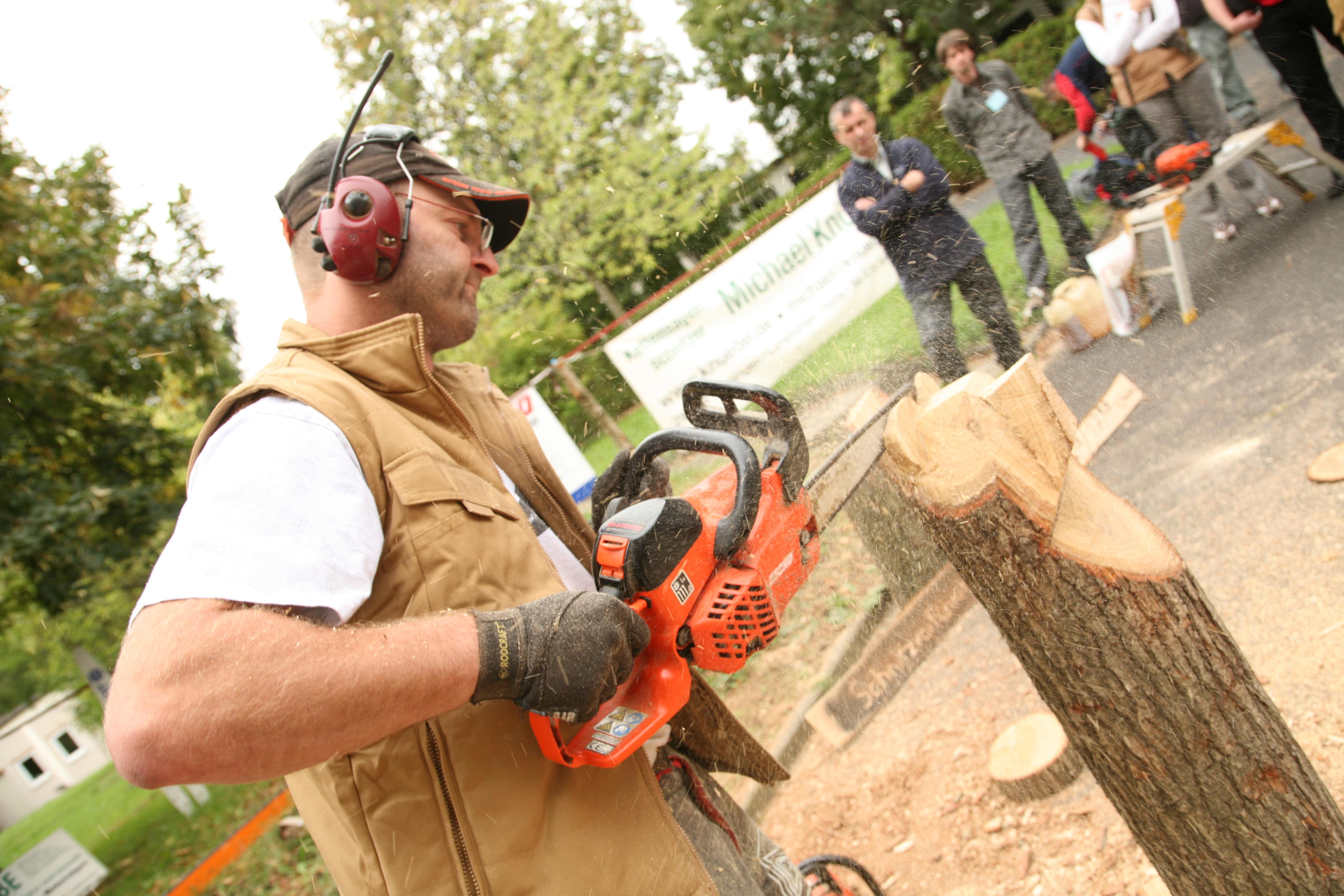 Kettensägen-Schnitzen auf der HolzWerken live